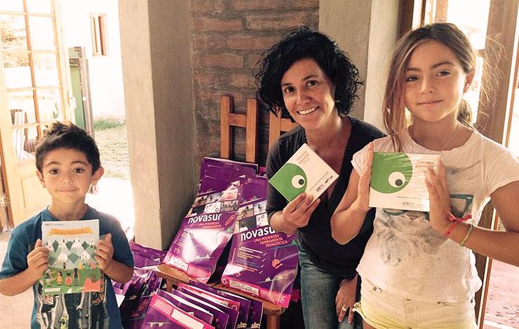 Albergues de Atacama reciben material audiovisual Novasur para niñas y niños