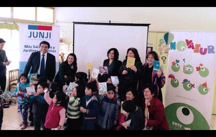 """Nueva serie infantil """"En la punta de la lengua"""" fue estrenada en jardín Junji de Villa Francia"""