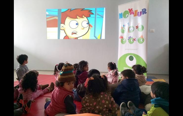 CNTV-Novasur realiza muestras audiovisuales itinerantes en jardines Integra de Coquimbo
