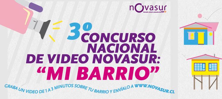 Concurso audiovisual de Novasur y CNTV invita a jóvenes a llevar sus barrios a la pantalla
