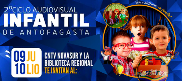 "Antofagasta: CNTV-Novasur presenta segundo ""Ciclo Audiovisual Infantil 2016"""