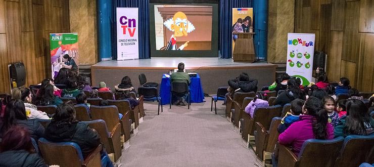 Araucanía: CNTV-Novasur y JUNJI celebran mes de la infancia con muestra audiovisual