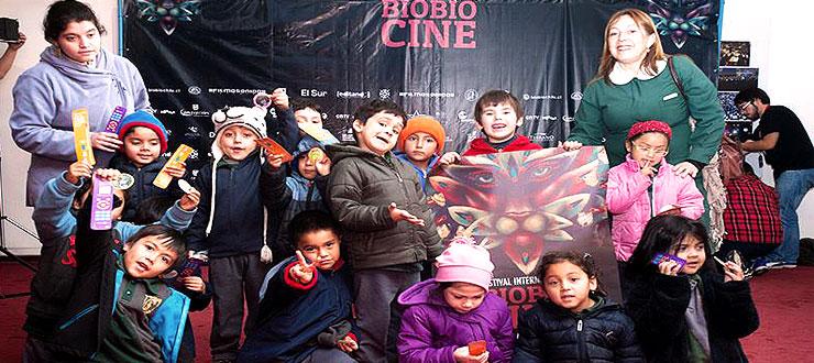 Más de mil niños y niñas asistieron a la Ventana Infantil Novasur en BiobioCine
