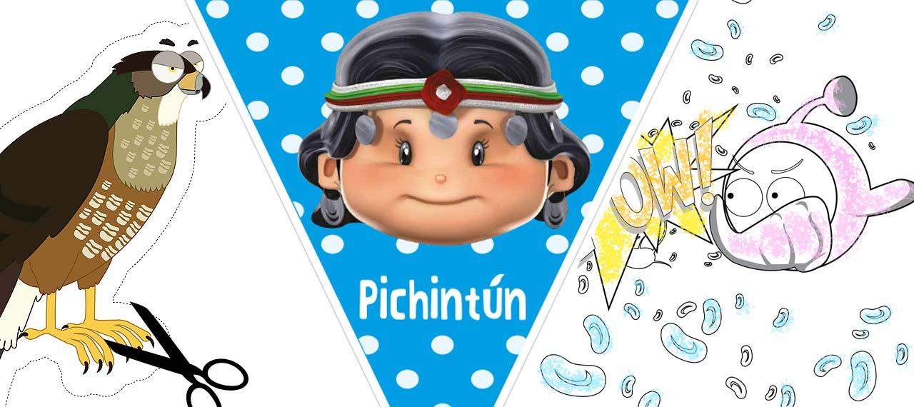 Descarga las actividades con los personajes de Pichintún y todas las series CNTV infantil